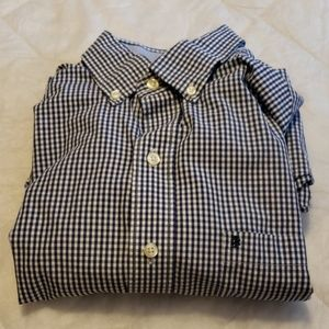 Izod Button Down Casual Long Sleeve Shirt Mens M